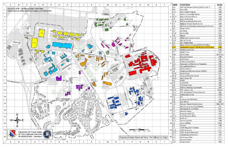 Hanscom AFB Installation Map