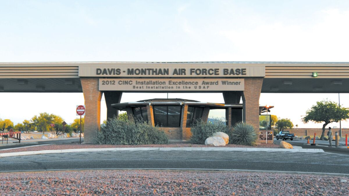 Davis Monthan AFB Arrival
