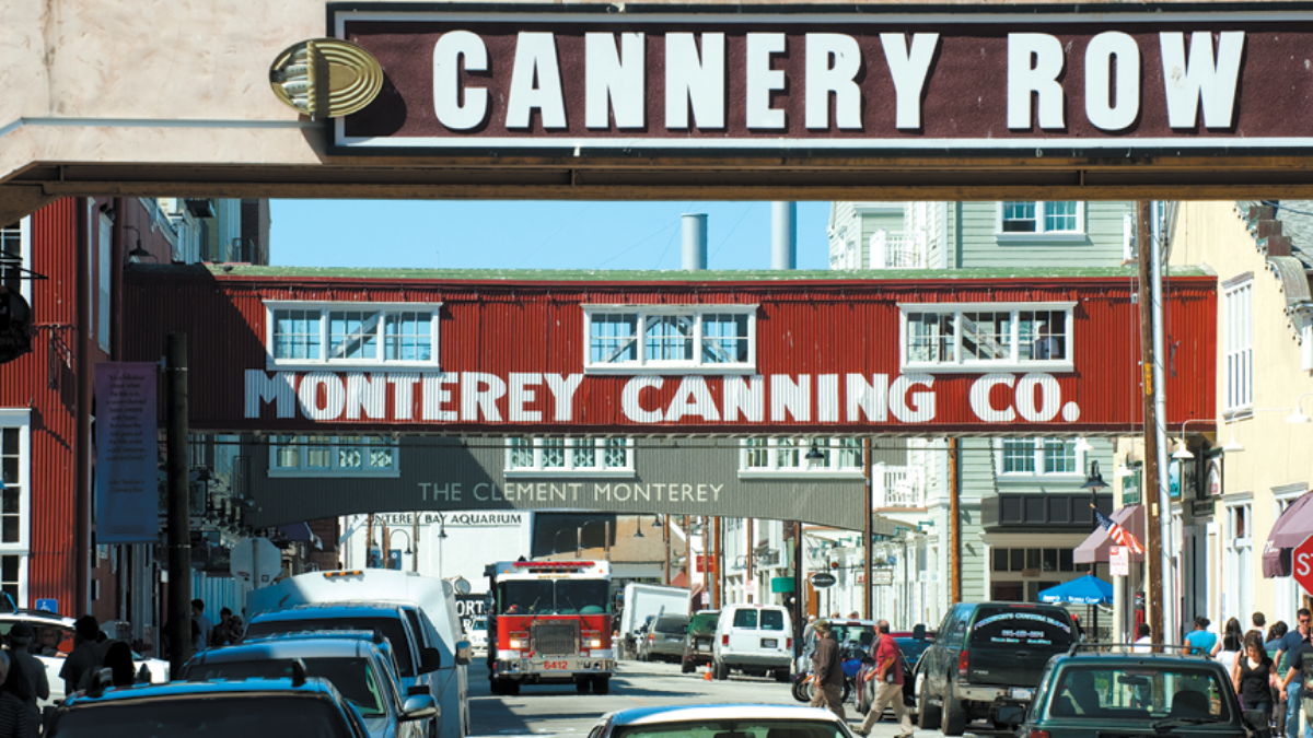 Cannery Row in Monterey Bay, CA; Edwards Air Force Base Southern California and Beyond