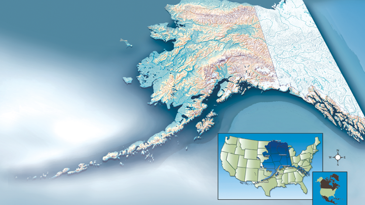 Alaska Map, Joint Base Elmendorf-Richardson, JBER