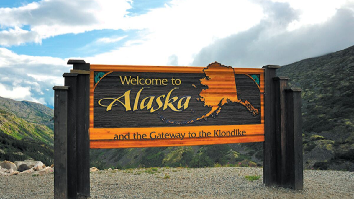 Welcome to Alaska Sign, Joint Base Elmendorf-Richardson, JBER