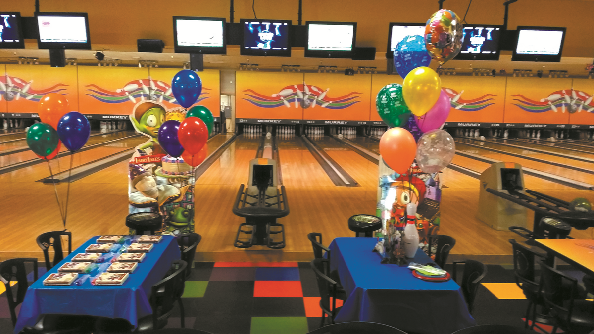 Party at bowling alley, Joint Base Elmendorf-Richardson, JBER
