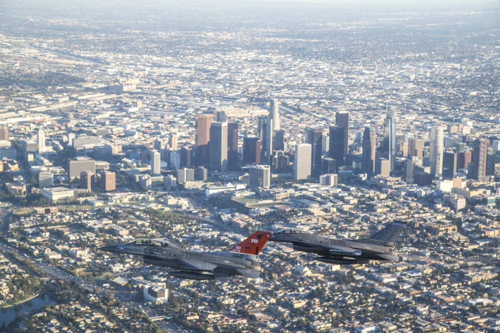 Flying over Los Angeles, Los Angeles Air Force Base