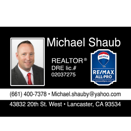 Michael Shaub Realtor With Re/Max All-Pro